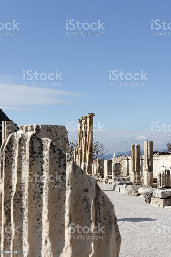 ruins of ephesus royalty-free stock photo