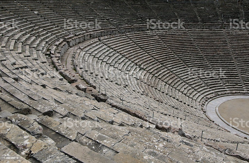 ruins of epidaurus theater, peloponnese, greece royalty-free stock photo