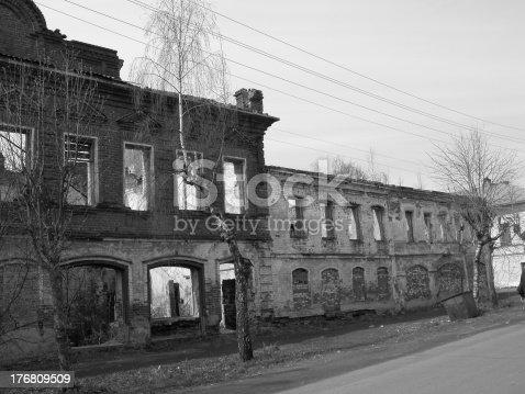 istock Ruins of forsaken house 176809509