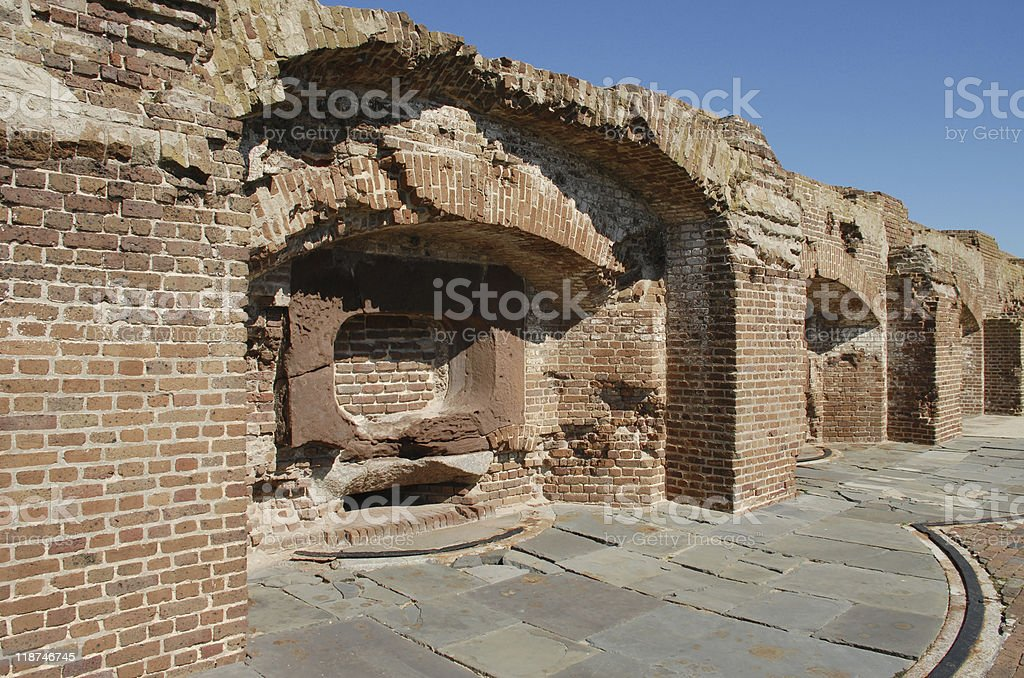 Ruins of Fort Sumter stock photo