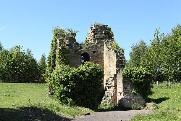 ruins of friars goose, a coal mine pumping engine house - gateshead stock photos and pictures