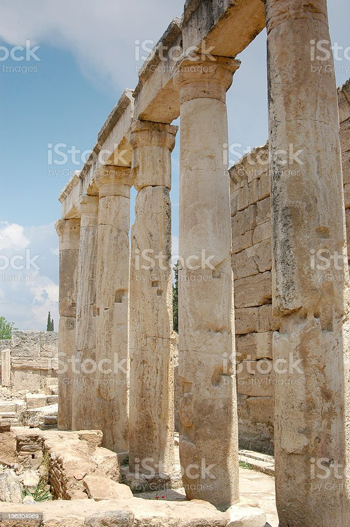 Ruins of Hierapolis royalty-free stock photo
