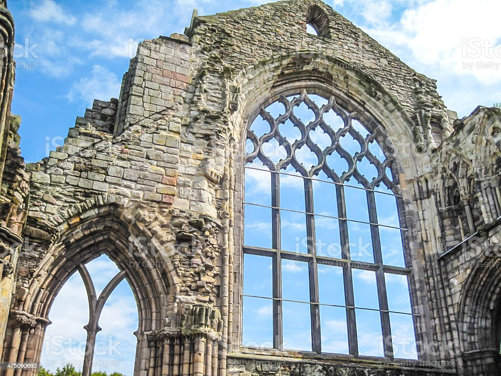 Ruins of Holyrood Abbey, Edinburgh stock photo