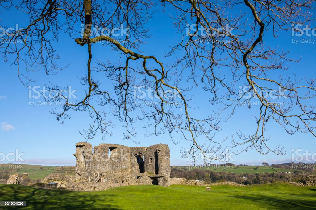 Ruins of Kendal Castle in the Lake District, UK stock photo
