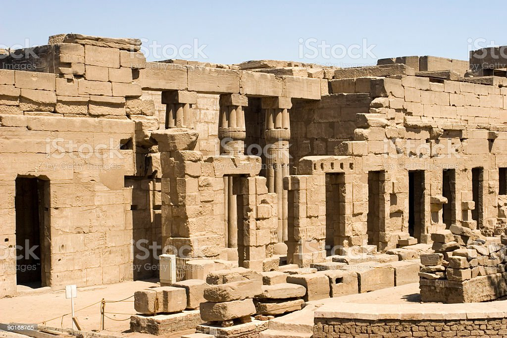 Ruins of Luxor Temple royalty-free stock photo