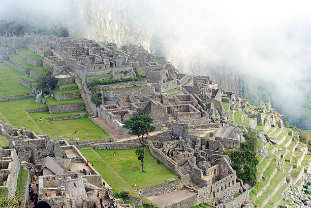 Ruins of Machu Picchu stock photo