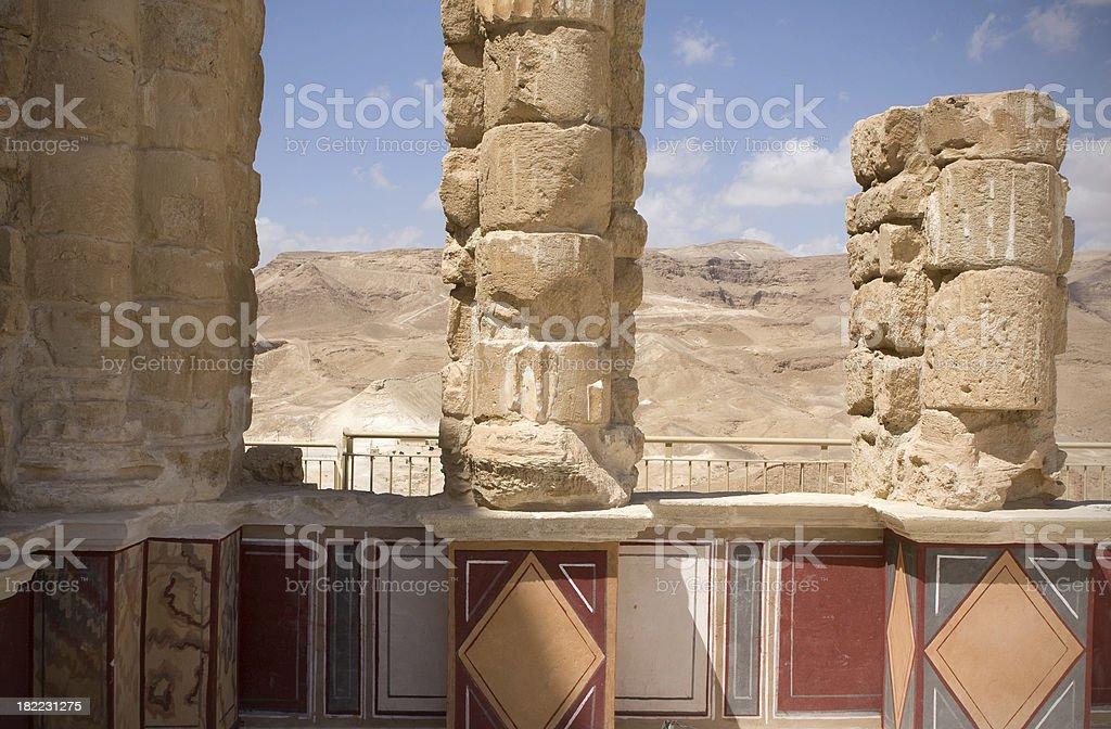 Ruins of Masada royalty-free stock photo