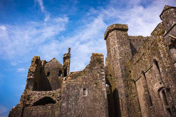 Ruins of medieval castle, Rock of Cashel in Ireland stock photo