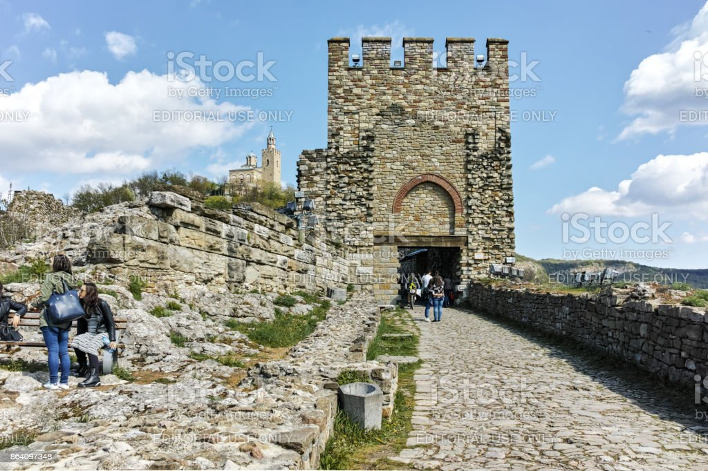Ruins of medieval Fortress Tsarevets, Veliko Tarnovo, Bulgaria royalty-free stock photo