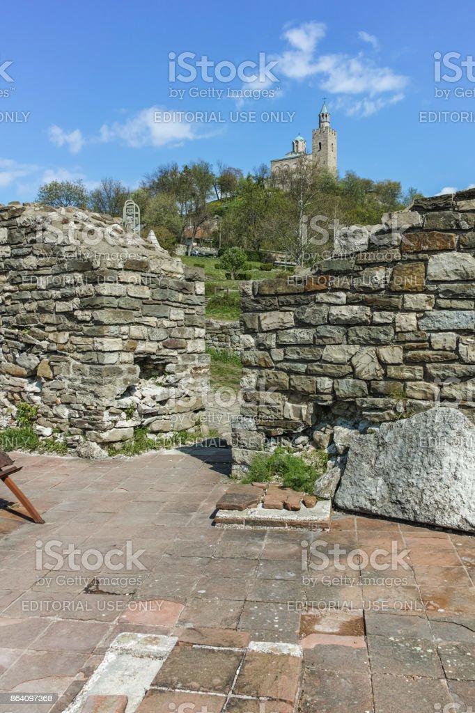 Ruins of medieval Fortress Tsarevets, Veliko Tarnovo, Bulgaria royalty-free stock photo