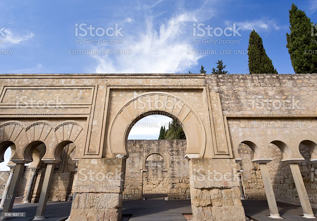 Ruins of Medina Azahara stock photo