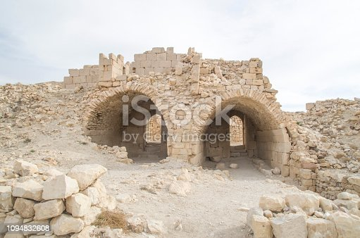 Ruins of Montreal (Crusader castle)  of the Arabah, now called Shoubak , Jordan