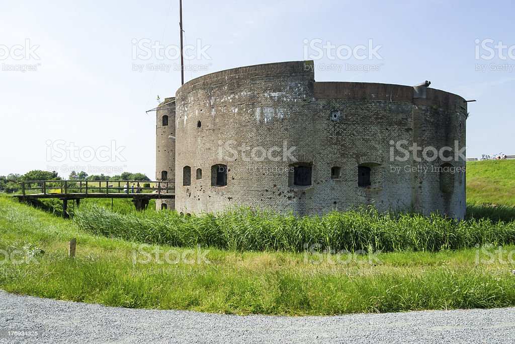 ruins of old fortification in Muiden, Netherlands stock photo