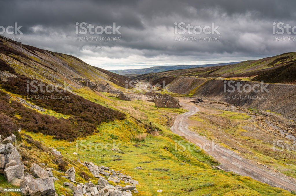 Ruins of Old Gang Smelt Mill stock photo