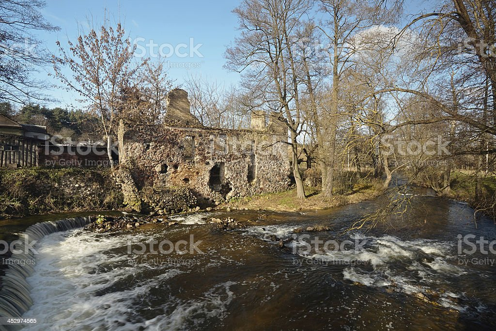 Ruins of old mill royalty-free stock photo