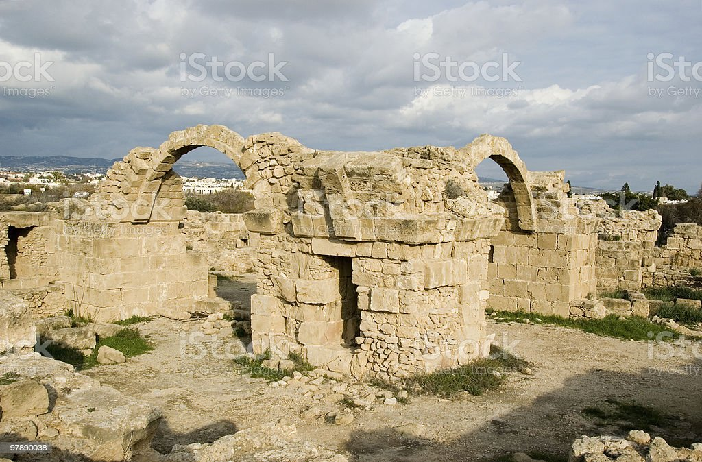 Ruins of Paphos Castle royalty-free stock photo