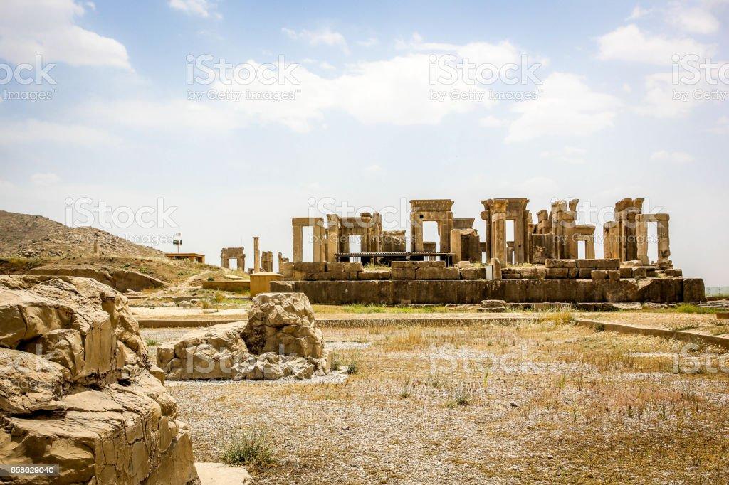 Ruins of Persepolis  in Iran stock photo
