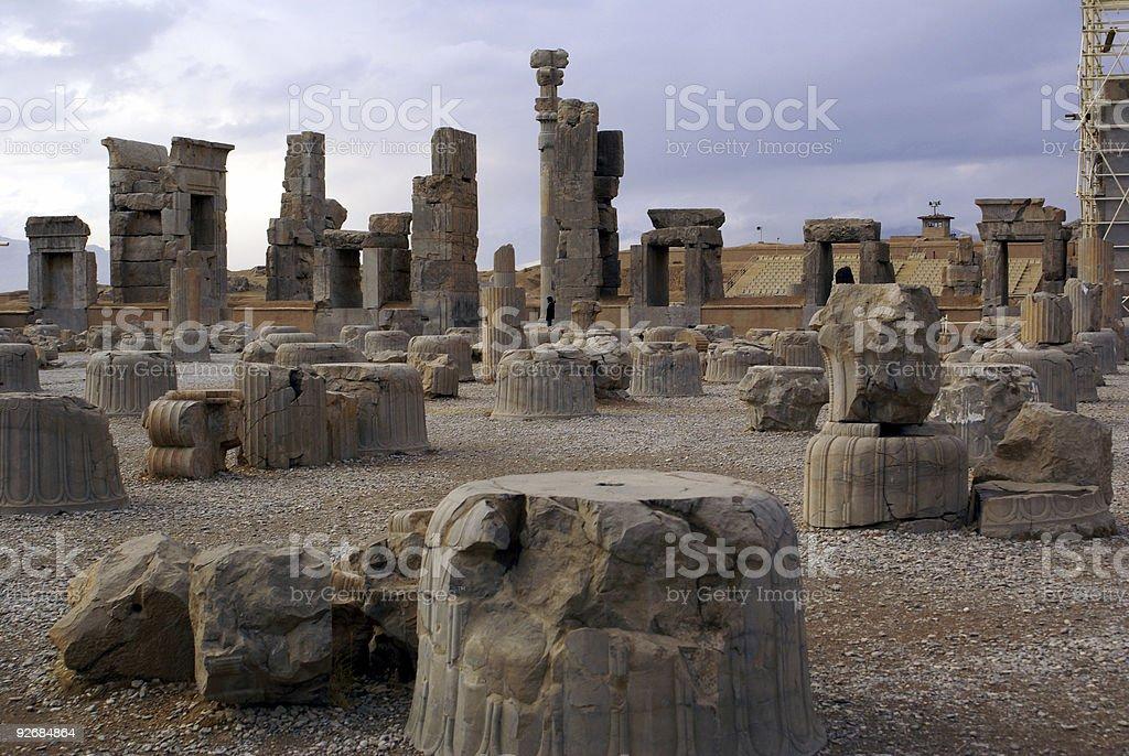 Ruins of Persepolis stock photo