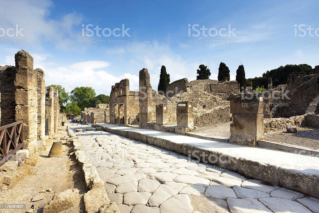 Ruins of Pompei stock photo