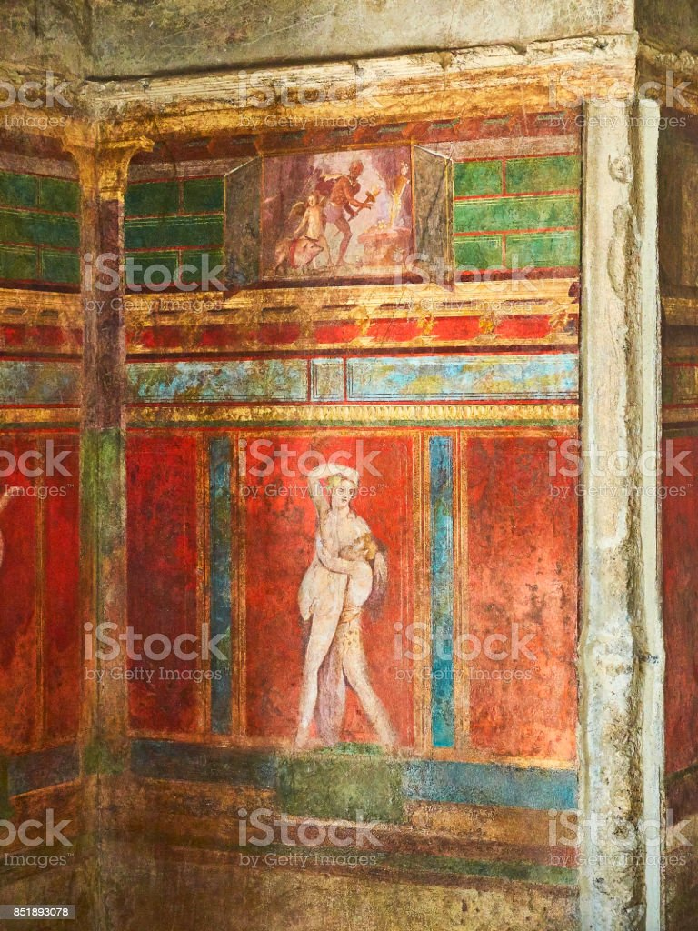 Ruins of Pompeii, ancient Roman city. Pompei, Campania. Italy. stock photo
