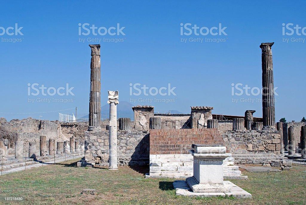Ruins of Pompeii stock photo