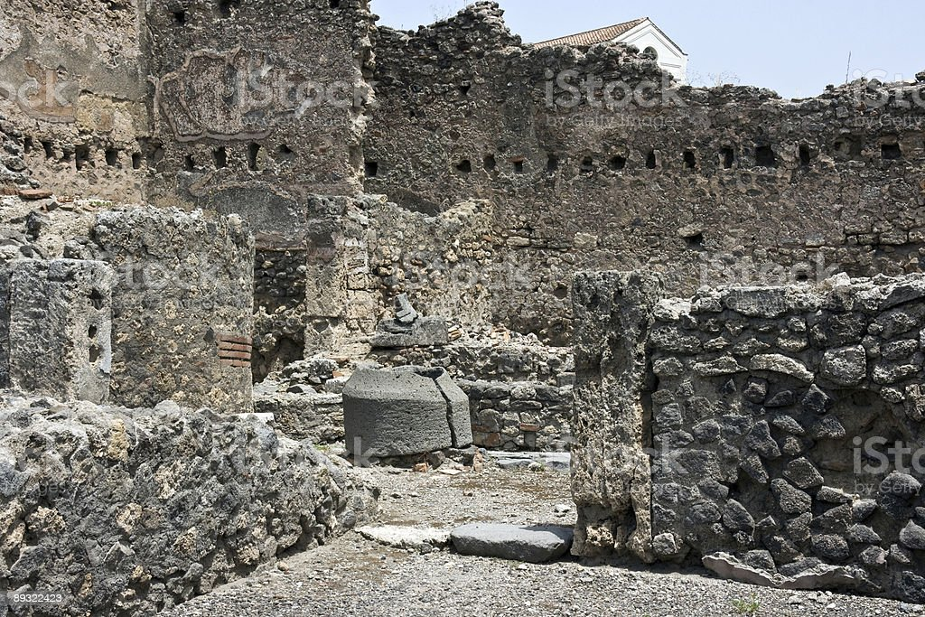 Ruins of Pompey royalty-free stock photo