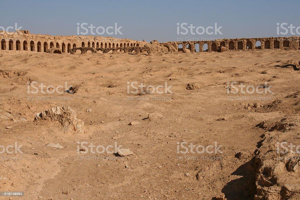 ruins of Resafa stock photo