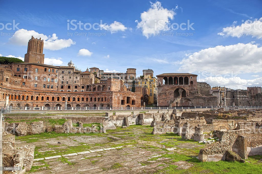 Ruins of Roman Forum in Rome royalty-free stock photo