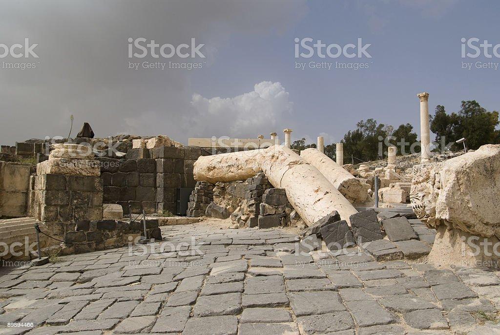 Ruinen des römischen Tempel im Beit Shean Lizenzfreies stock-foto
