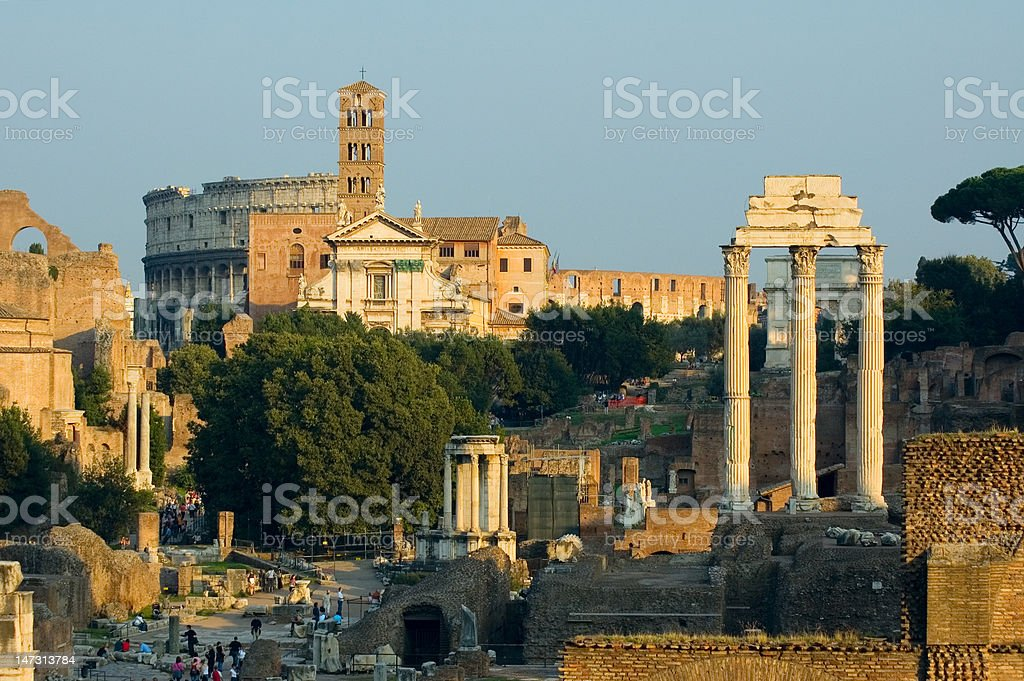 Ruins of Rome stock photo