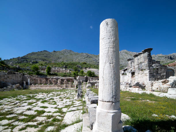 Ruins of Sagalassos in Isparta, Turkey stock photo
