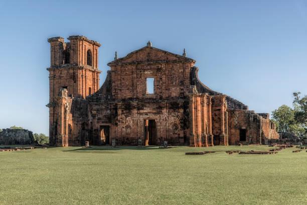 ruínas de são miguel das missões, rio grande do sul, brasil - rio grande do sul - fotografias e filmes do acervo
