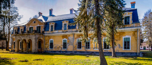 Ruins of Somssich Country Chateau stock photo