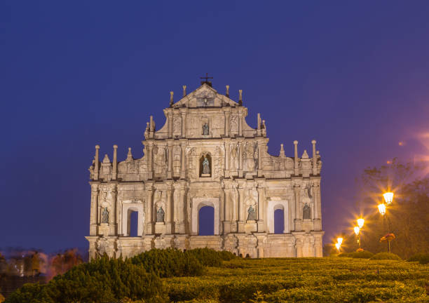 Ruine von St. Paul's Kirche in Macau China Ruine von St. Paul's Kirche in Macau China ruine stock pictures, royalty-free photos & images