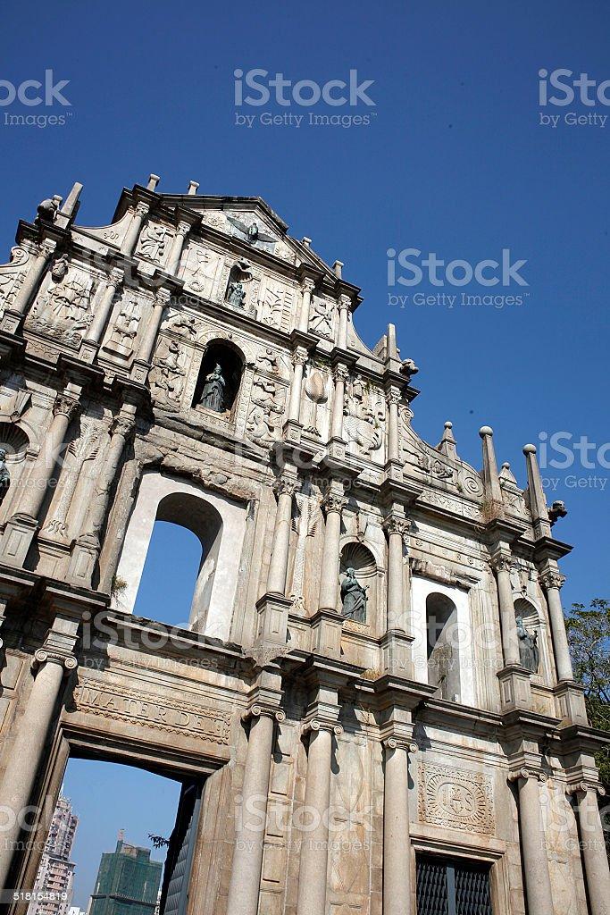 Ruins of St.Paul's stock photo