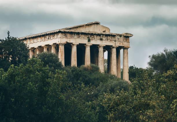 Ruines du temple de Hephaestus-Agora antique-Athènes-Grèce - Photo