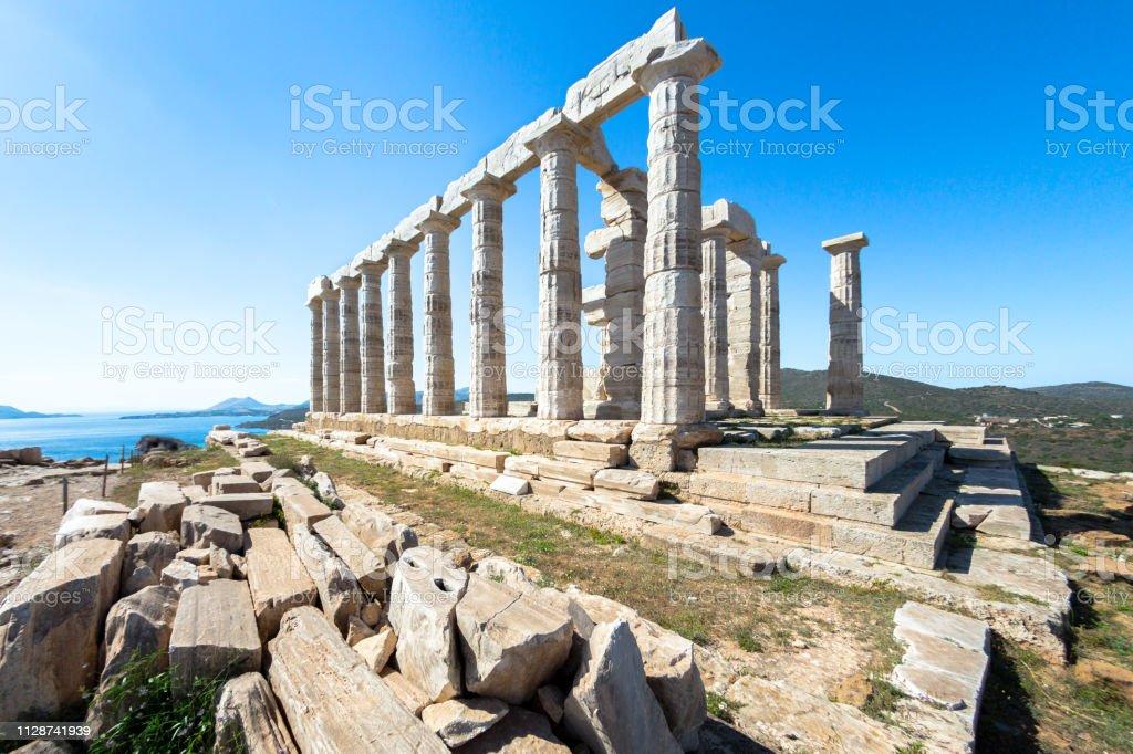 Ruinen der Tempel des Poseidon in Sounion – Foto