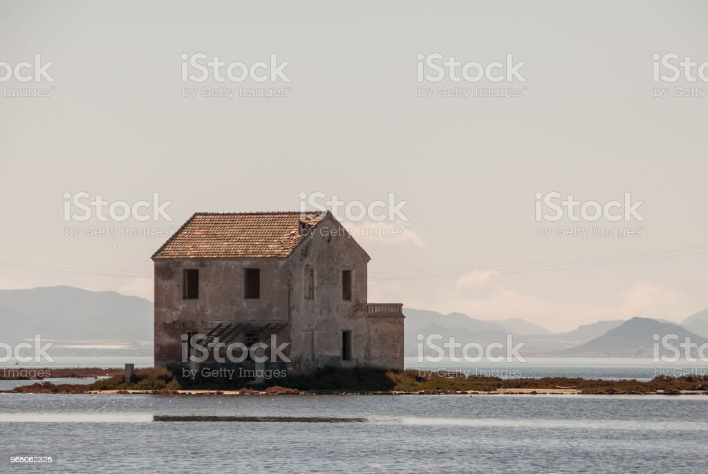 Ruins of the abandoned house in the Mar Menor lagoon. Murcia zbiór zdjęć royalty-free