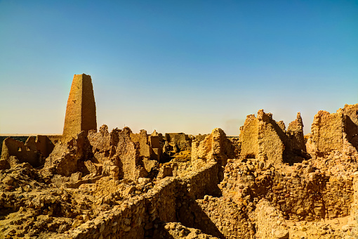 istock Ruins of the Amun Oracle temple, Siwa oasis, Egypt 614335364