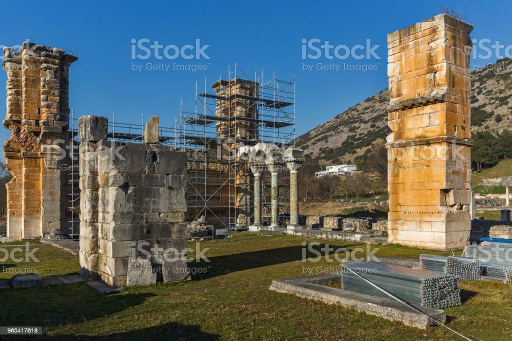 Ruins of the ancient city of Philippi, Greece zbiór zdjęć royalty-free