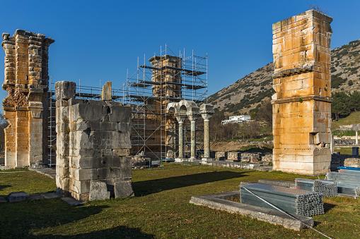 빌립보 그리스의 고 대 도시의 유적 0명에 대한 스톡 사진 및 기타 이미지