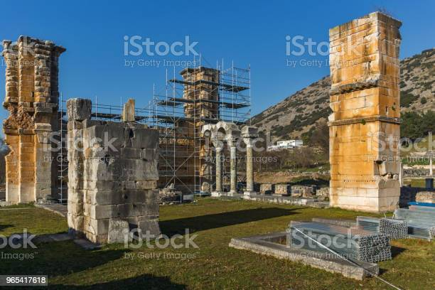 Foto de Ruínas Da Antiga Cidade De Filipos Grécia e mais fotos de stock de Antiguidade