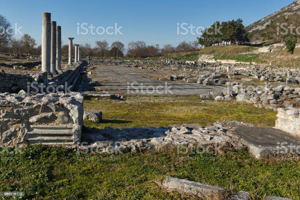 Ruínas da antiga cidade de Filipos, Grécia - Foto de stock de Antiguidade royalty-free