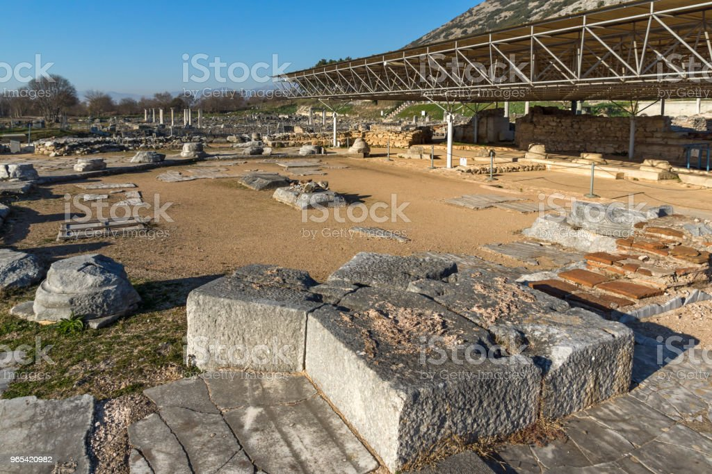 Ruins of the ancient city of Philippi, Greece royalty-free stock photo