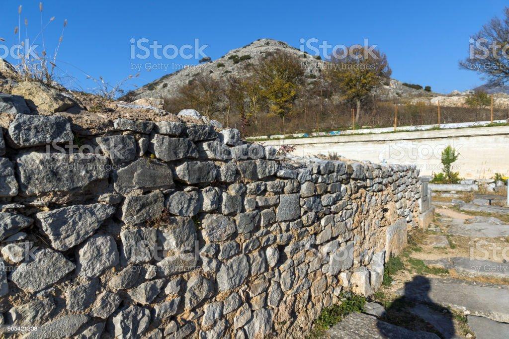 Ruines de la cité antique de Philippes, Grèce - Photo de Antique libre de droits