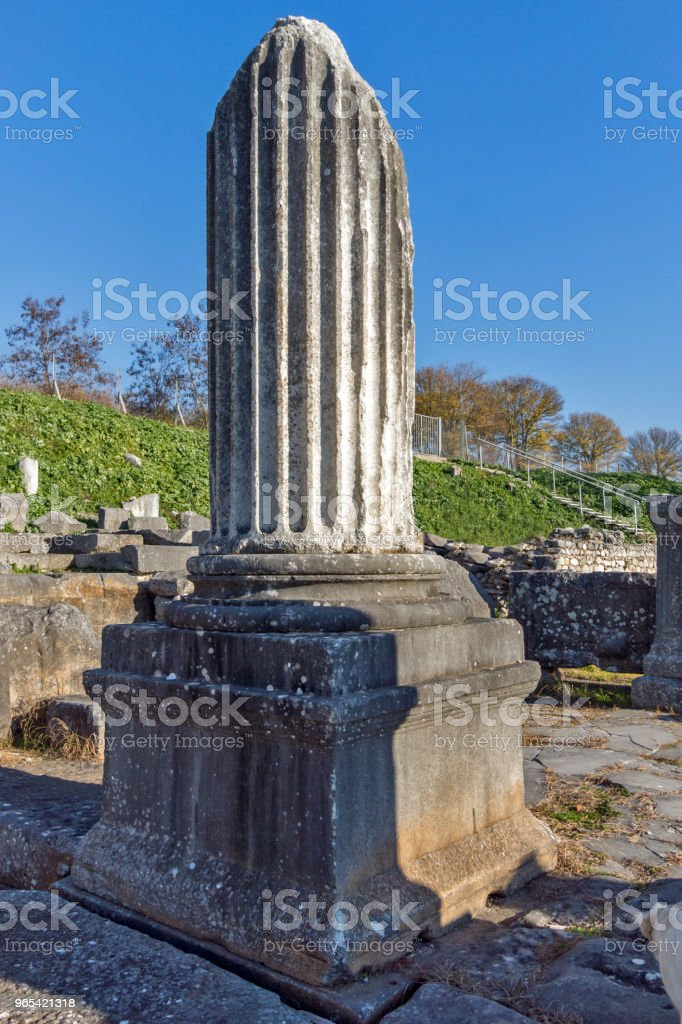 Ruins of the ancient city of Philippi, Greece zbiór zdjęć royalty-free