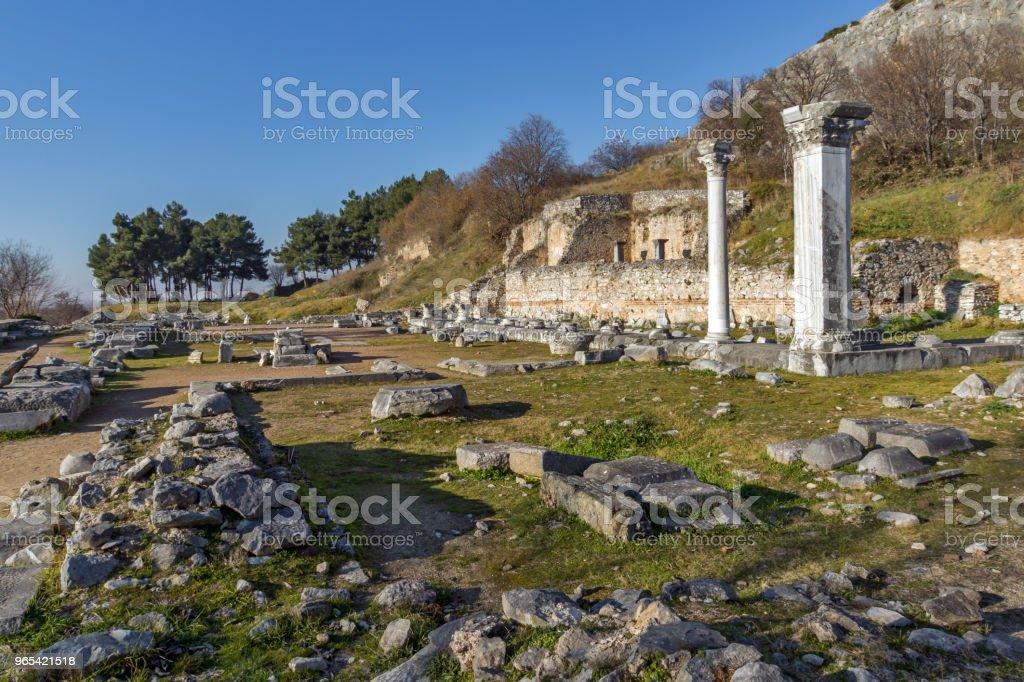 Ruinen der antiken Stadt von Philippi, Griechenland - Lizenzfrei Achteck Stock-Foto