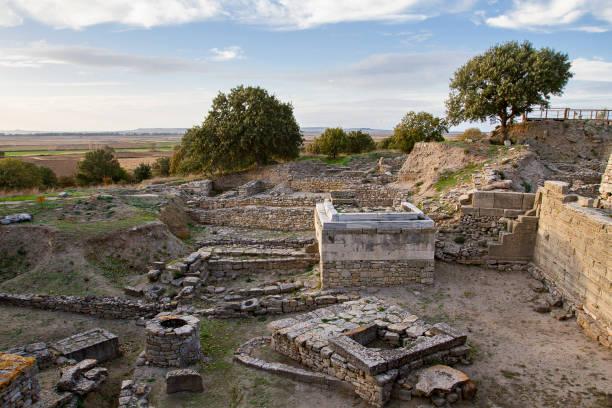 Ruinen der antiken Stadt Troja, Canakkale, Türkei – Foto
