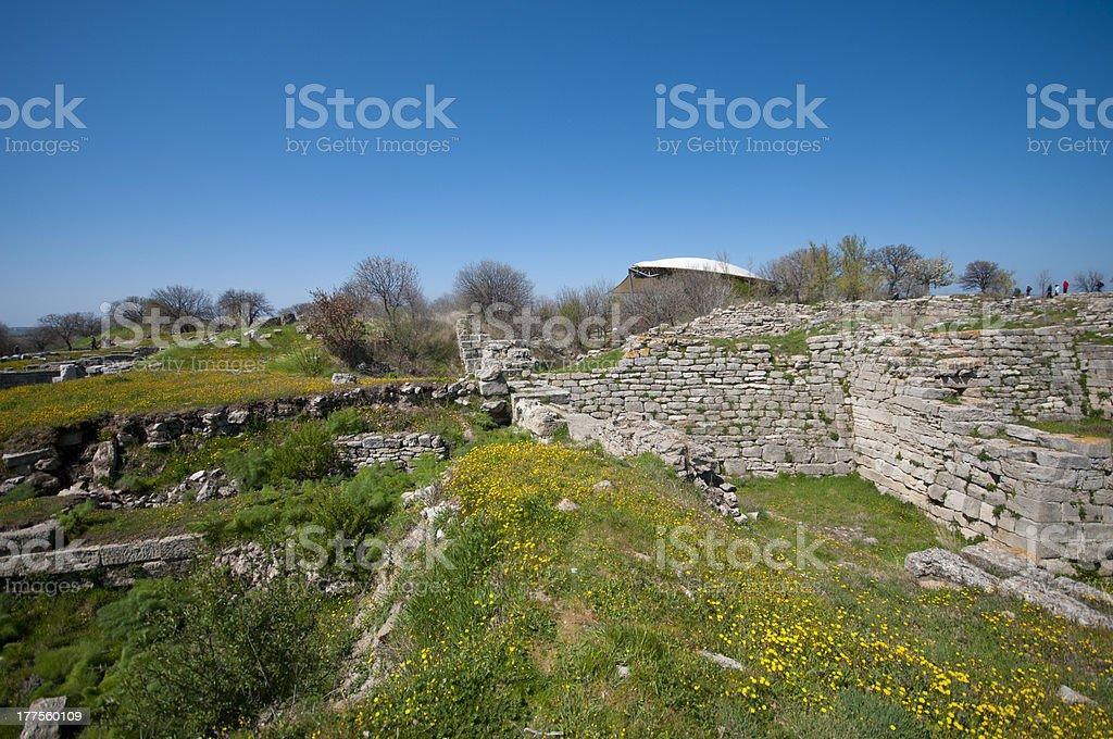 Ruinen der antiken Stadt, Troy – Foto