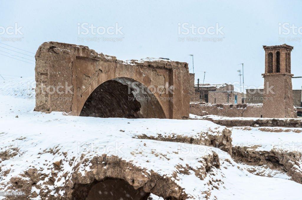 Ruins of the ancient of Nain, Isfahan province, Iran. stock photo